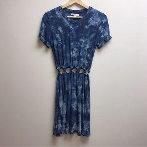 American eagle small blue tye die dress